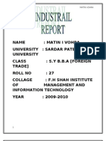 Report of Mundra Port