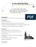 Introduction to Swedish:Spelling - Wikiversity