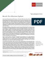 Brazil Pre Election Update September 2010