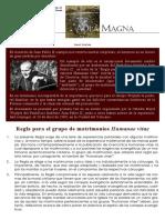 1 Regla Para El Grupo de Matrimonios Juan Pablo II