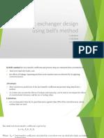 Heat exchanger design using bell's method.pptx
