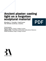 Ancient Plaster Draft Programme
