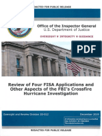 "IG report on review of FBI ""Crossfire Hurricane"" investigation"