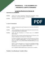 CRONOGRAMA TRASPASO PRESIDENCIAL