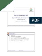 Electrónica Digital I. Álgebra de Boole y funciones lógicas