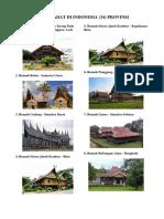 Rumah Adat Di Indonesia 34 Provinsi