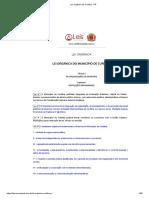 Lei Orgânica de Curitiba - PR