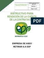18. INSTRUCTIVO PARA RENDICIÓN DE LA CUENTA DE LA CONTRATACIÓN RETIRAR S.A ESP 2019.pdf