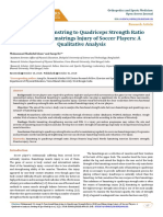 Functional Hamstring to Quadriceps Strength Ratio and Hamstrings Injury of Soccer Players. a Qualitative Analysis