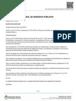 Dispo 479-19 Afip Ejecución Judicial de Obligaciones Fiscales