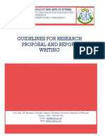 Guidelines for Research Proposal and Report Writing