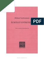 Lachenmann Ecrits Et Entretiens