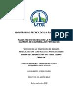 """""""ESTUDIO DE LA APLICACIÓN DE RESINAS FENÓLICAS PARA CONTROLAR LA PRODUCCIÓN DE ARENA DE LA FORMACIÓN """"M-1"""" EN EL CAMPO TARAPOA"""".pdf"""