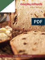 Morphy Richards Breadmaker 48319 Recipe Book