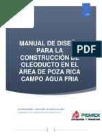 MANUAL DE DISEÑO PARA LA  CONSTRUCCIÓN DE OLEODUCTO EN EL ÁREA DE POZA RICA 31052019.pdf