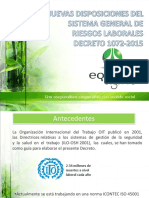 Actualización Legal en Sistema General de Riesgos Laborales 05-04-2016 Presentación