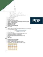 Science Cram Sheet