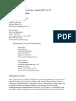 Lubbock Fair Housing Complaint NAACP TexasHousers TexasAppleseed