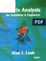 Matrix Analysis for Scientists and Engineers by Alan J Laub