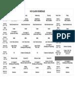 kg class schedule - sheet1