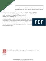Satz Journal of Philosophy