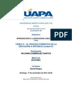 TAREA VI – EL PROCESO FORMATIVO EN LA EDUCACION A DISTANCIA (unidad IV).docx