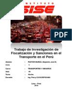 TRABAJO DE INVESTIGACIÓN DE fiscalización y sanciones en el transporte en el Perú.docx