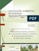 PSICOLOGÍA AMBIENTAL. ECOSISTEMA 1. POWER POINT.ppt