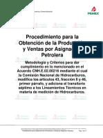 PEMEX - Producción y Ventas por Asignación - Procedimiento CNH -2016-02-15 - 1.1.docx