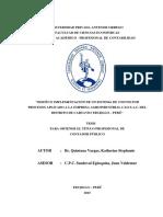 Quintana Vargas Diseño Implementacion Costos
