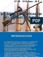 BALISTICA Y CLASIFICACION DE ARMAS DE FUEGO.ppt