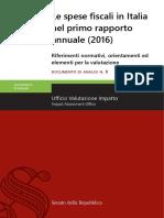 Spese Fiscali Rapporto Italia
