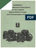 Speck Buffel Pumpmeister Installation Operating Instructions