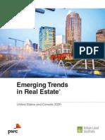 ULI Emerging Trends in Real Estate 2020