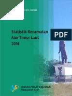 Statistik Daerah Kecamatan Alor Timur Laut 2016
