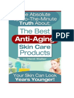 Truth About the Best Anti Aging Skincare Products