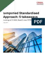 FRTB Simplified Standardised Approach 5 Takeaways