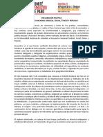 Declaracion Política. Encuentro Nacional Del 6 y 7 de Diciembre
