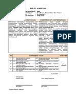 Analisis Kompetensi ilmu bahan, bahan bakar dan pelumas