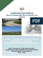 Curso- Taller Proyectos de Inversión Pública