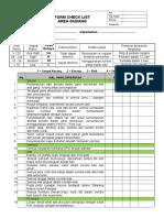 Form Checklist Area Gudang