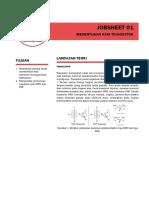 jobsheet 01 - menentukan kaki transistor