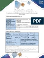 Guia de actividades y rubrica de evaluación - Fase 3 - Identificar los alimentos funcionales y las perspectivas en la biotecnología alimentaria .docx