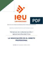 Actividad de aprendizaje 3. La negociación en el ámbito profesional