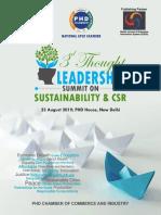 Brochure 3rd Thought Leadership Summit on Sustainability CSR 2