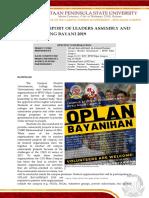 NARRATIVE REPORT OPLAN BAYANIHAN 2019.docx