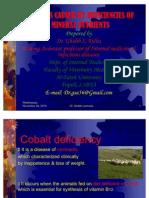 Diseases of Mineral Deficiency in Farm Animals (Cobalt, Iodine, Zinc, & manganes)
