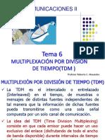 Tema 6 Comunicaciones II Multiplexacion TDM mayo de 2014.pdf