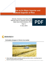 Y2018M10D11 China Market's Rise as  An Importer and Exporter of Rice