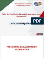 PRECISIONES DE LA SITUACIÓN SIGNFICATIVA- TALLER - UGEL 01.pptx